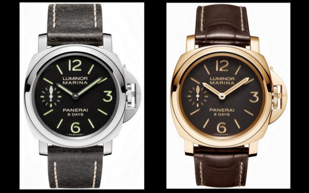 Panerai Luminor Marina 8 Days 44 mm PAM510 and PAM511 Watches 01
